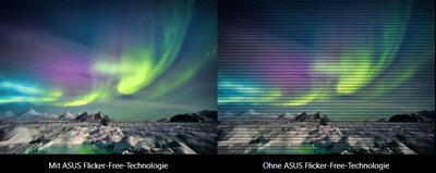Keine Ermüdungserscheinungen dank ASUS EyeCare-Technologie