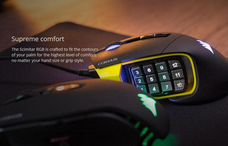 01192c7f126 Corsair Gaming SCIMITAR RGB MOBA/MMO Gaming Mouse - Newegg.com