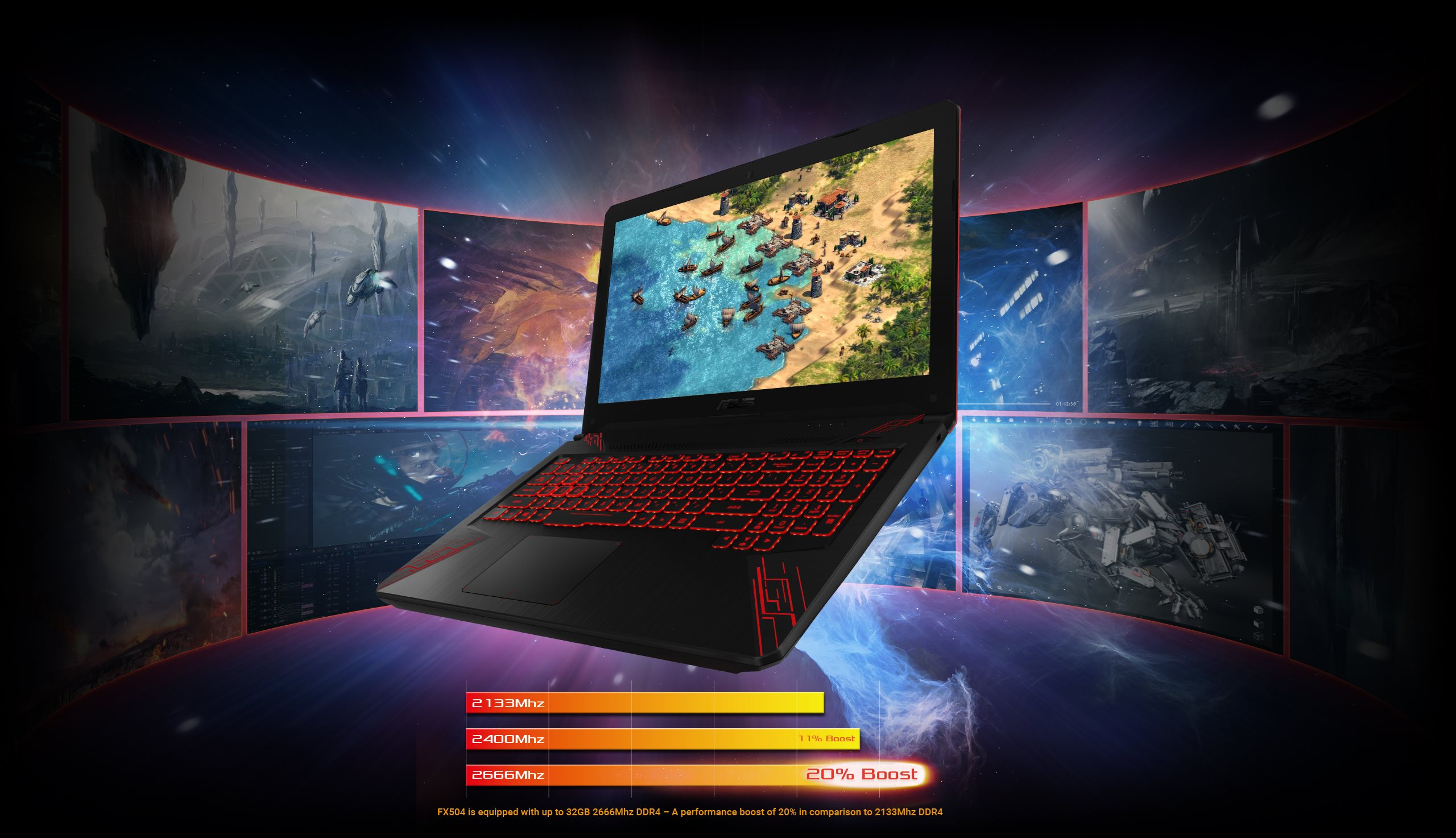 ASUS FX504GD-NH51 TUF Gaming Laptop, Intel Core i5-8300H 2 3GHz Quad Core  Processor, 8GB Memory, 256GB SDD, NVIDIA GeForce GTX