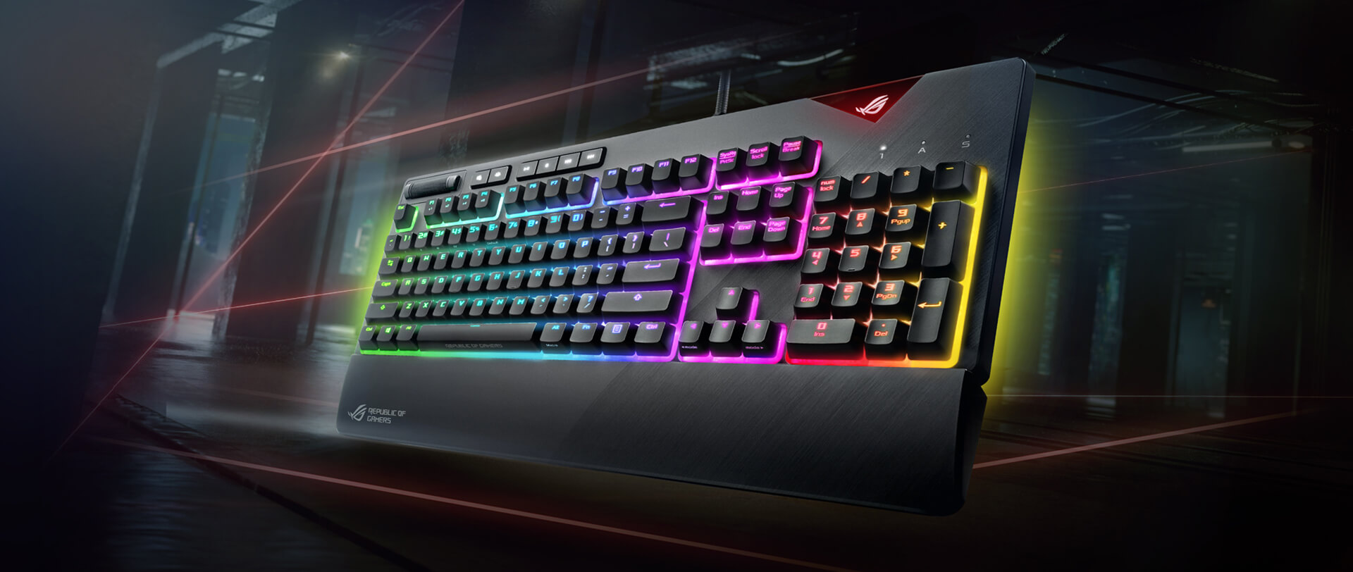 ASUS ROG Strix Flare Aura Sync RGB Mechanical Gaming Wired Keyboard with  Cherry MX Brown Switches, Steel Gray