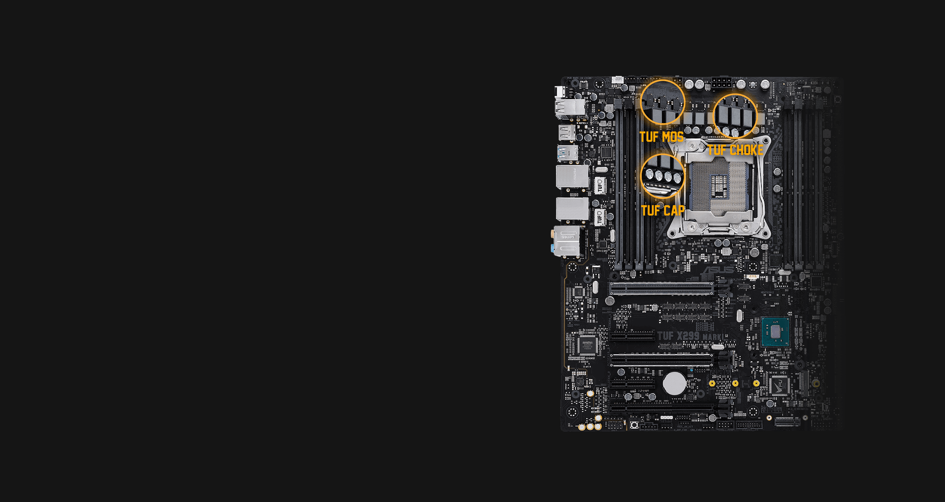 ASUS TUF X299 MARK 1 - motherboard - ATX - LGA2066 Socket - X299