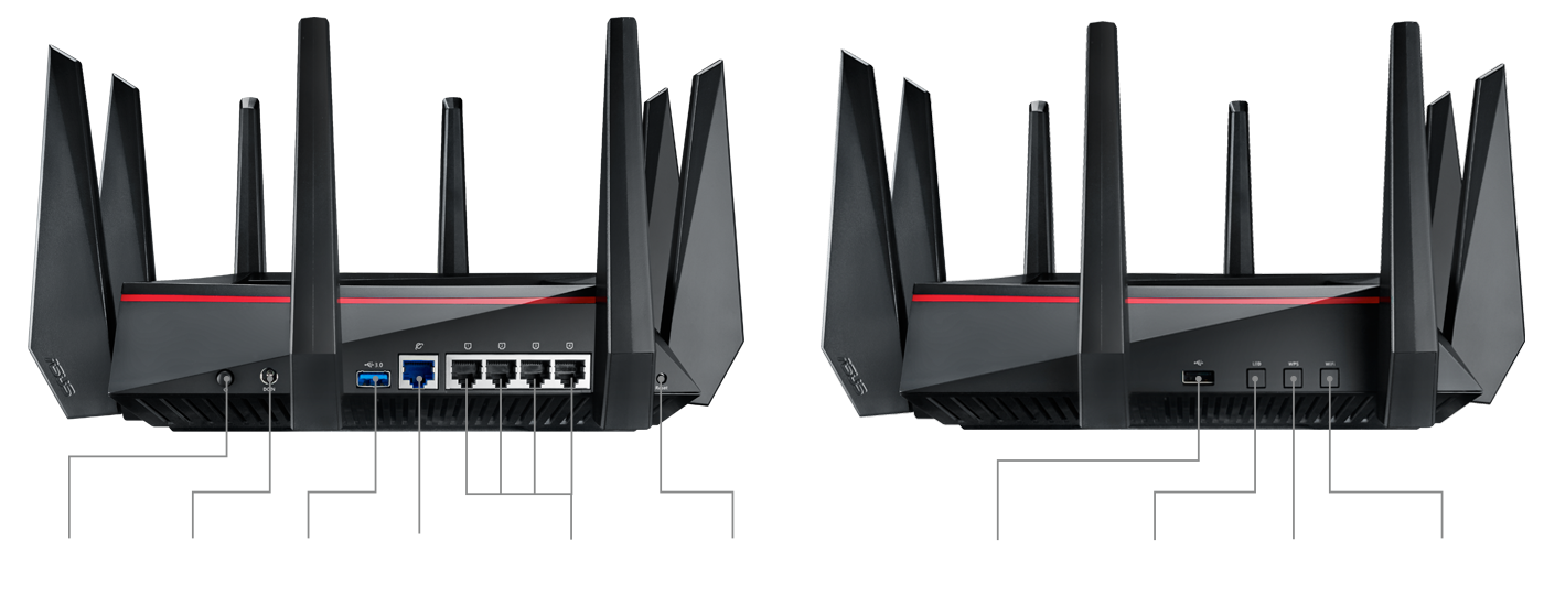 Asus AC5300 Tri-Band WiFi Router - RT-AC5300/CA